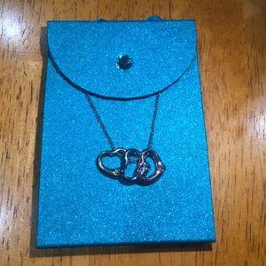 3 Multicolor Heart Necklace